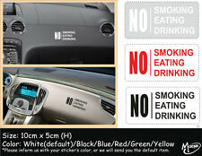 No Smoking Eating Drinking Car Rules Car Sticker Truck Boat  Decals Best Gift-