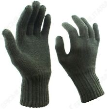 Original Belgian Army Wool Gloves - Winter Woollen Military Surplus Soldier