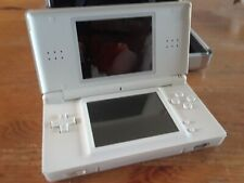 Nintendo DS Lite - White with metal case, car charger, Super Mario Bros.