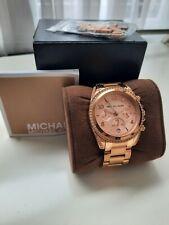 Ladies Michael Kors Designer Watch Rose Gold Chronograph MK5263  Genuine