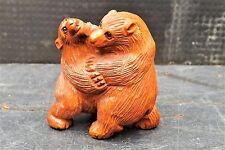 "antique japanese netsuke "" The Bear fight """