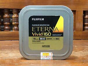Fuji fujifilm 16mm ETERNA vivid 160 tungsten 8643 400ft (122m) seal