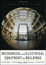 Mechanical and Electrical Equipment for Buildings Hardcover Benjamin Stein