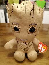 "Ty Marvel Groot Beanie 7"" Plush Soft Toy - Bean Baby Avengers"