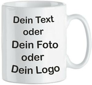Tasse Becher bedruckt wunsch Name Foto Logo Design Bild Text Spruch Motiv Druck