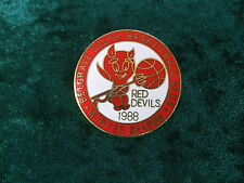 LAPEL BADGE/PIN - BELGRAVE SOUTH BASKETBALL CLUB 1988 - RED DEVILS - WINTER