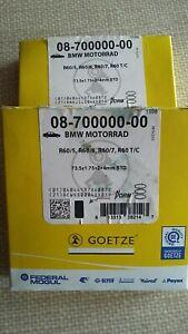 BMW GOETZE r60/5 r60/6 r60/7  Piston Rings   NOS 2 X Full sets = 6 rings