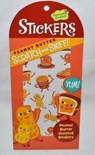 PEACEABLE KINGDOM 36 SCRATCH N' SNIFF PEANUT-BUTTER SCENTED STICKERS-JAR,COOKIES
