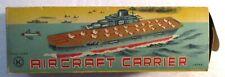 Vintage Tin Litho Aircraft Carrier Battleship Original Box Japan K Ex