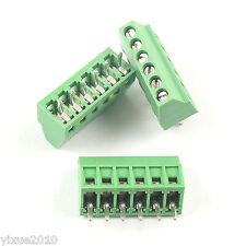 "10Pcs 2.54mm 0.1"" Universal 6 Pin6 Poles PCB Screw Terminal Block Connector"
