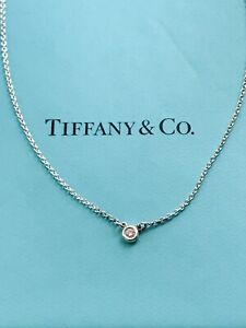 Tiffany And Co Diamonds By Yard Silver And Diamond Necklace 40cm