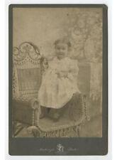 CAB PHOTO CHILD ON WICKER CHAIR FROM PITTSBURG, PA, MACKENZIE STUDIO PORTRAIT