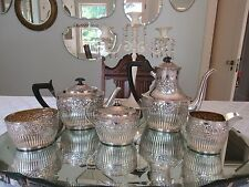 Antique 1880's Geo. C. Shreve & Co Sterling Silver Coffee & Tea set Appraised
