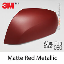 20x30cm LÁMINA Mate Rojo Metálico 3M 1080 M203 Vinilo CUBIERTA Nuevo Series