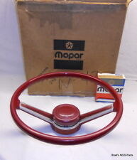 NOS MoPar 1980 1981 Chrysler Cordoba Dodge Mirada Steering Wheel and pad set RED