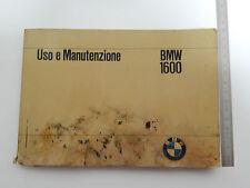 MANUALE USO MANUTENZIONE BMW 1600 1966 + LIBRETTO SERVICE