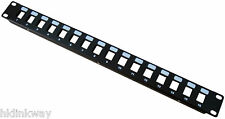 "16 Ports Unloaded Keystone Patch Panel - 19"" Rack Mount"