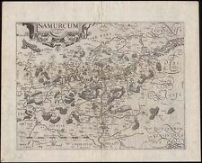 Belgien  Namur  Blaeu  Kupferstich Karte 1612