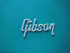Gibson  Silver Logo for Amp ( large version) Shinny
