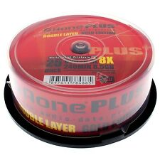 50 DVD+R AONE PRINTABLE PRINT 8X DL DUAL DOUBLE LAYER STAMPABILI + 1 CD VERBATIM