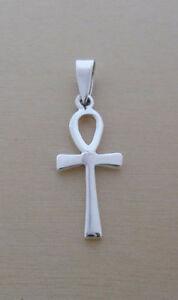 Egyptian Ankh Cross Pendant, Represent, Key of Life , 925 Sterling Silver