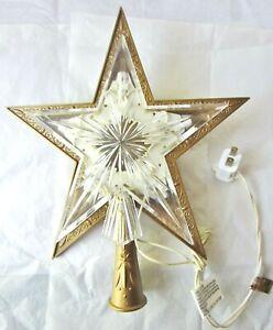 Vintage Star Christmas Tree Topper- Lights- WORKS!