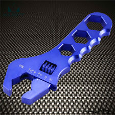 AN AN3 3AN-16AN Adjustable Wrench Spanner Fitting Tools Aluminum Anodized Blue