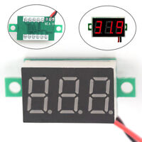 3-Wires Mini DC 0-100V Voltmeter LED Panel 3-Digital Display Voltage Meter Dz