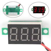 3-Wires Mini DC 0-100V Voltmeter LED Panel 3-Digital Display Voltage Meter №r