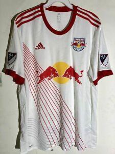 Adidas Authentic MLS Jersey New York Red Bulls Team White sz M