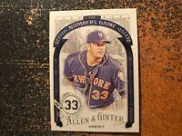 Matt Harvey Mets 2016 Topps Allen & Ginter The Numbers Game Insert #37