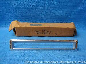 1973 1974 Mercury Marquis Monterey LH Side Marker Bezel Chrome D3MY-15A440-F NOS