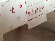Luxus Weihnachten Xmas Rentier creme Tischläufer 36x178cm