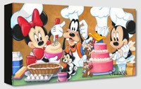 Disney Fine Art Treasures On Canvas Collection Happy Kitchen-Mickey-Laurent