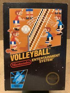 Volleyball Nintendo NES CIB Complete W/ Hangtab Black Box 5 Screw GREAT SHAPE!