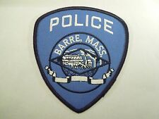 Vintage Police Barre, Massachusetts Iron On Patch Train & Horse Wagon Image