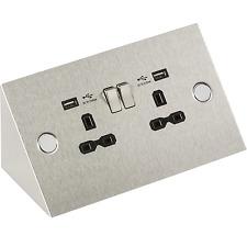 DOPPIA presa con USB Angolato sotto armadio armadietto commutazione 13A SK002 BCA