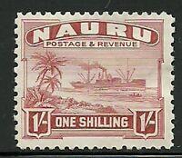 Album Treasures Nauru Scott # 27a  1sh Freighter  Mint Hinged