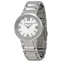 3bbbee2cf20 Baume and Mercier Promesse Silver Dial Stainless Steel Ladies Watch MOA10157