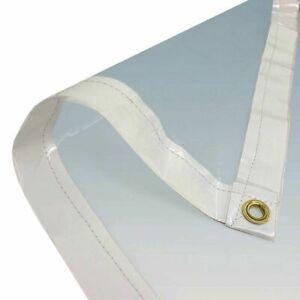 Clear Tarp  PVC Vinyl Tarp Clear  ( Variable Size)