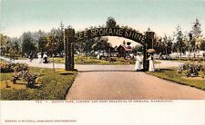Washington postcard Spokane Manito Park Largest & Most Beautiful in Spokane 1907