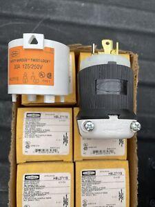 Hubbell Wiring Device-Kellems HBL2711S 30A Twist-Lock Plug 3P 4W 125/250VAC