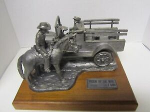 Rare Large Pewter By Michael Ricker  Pickin Up The Mail 27lbs  75 / 500