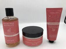 Crabtree & Evelyn Rosewater Pink Peppercorn Body Gel & Hand Cream Therapy Lot