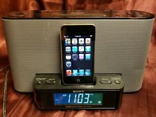 Sony Speaker Dock AM/FM Clock Radio 30-Pin iPod/iPhone Dock Audio Docking System