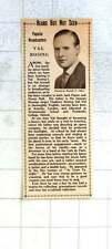 1936 Popular Broadcaster Val Rosing