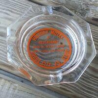 Vintage holiday motel - DODGE CITY, KANSAS Glass Ashtray                  !