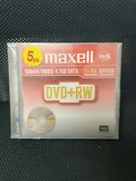 Maxell DVD-RW 4.7GB 1-4 x Speed 120min Video DVD-ReWritable Discs Pack of 5