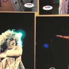 4 Autographed Roger Daltrey 8x10 photos all diffferent all 4 are PSA certified