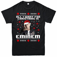 AlI I Want For Christmas T-Shirt Eminem Xmas Gift Unisex Adult & Kids Tee Top